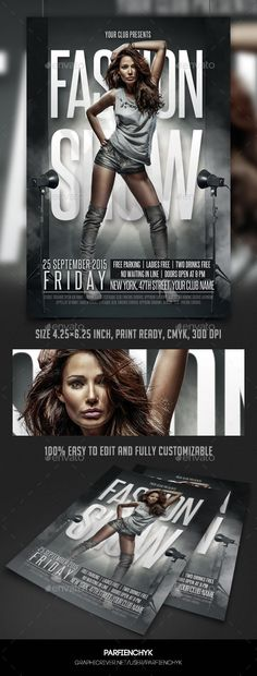 9 best fashion show flyer images