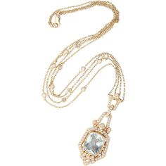 Unique 18k Yellow Gold Diamond and Green Amethyst Necklace at 1stdibs ❤ liked on Polyvore featuring jewelry, necklaces, 18k necklace, gold jewellery, green amethyst jewelry, 18k gold jewelry and diamond necklaces