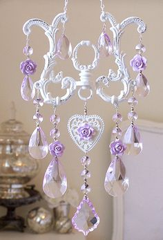 Sparkly Soft Lavender Crystal SunCatcher