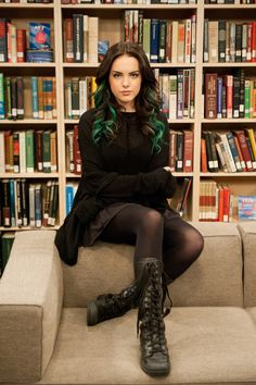 Victorious - Jade West Oh how such a young beautiful good looking gothic girl has my attention on her from Victorious. LOVE TO BE LIKE JADE WEST OR ELIZABETH GILLIES. YOU ROCK JADE WEST.