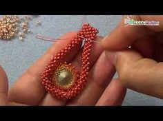 Bead DIY video tutorial Victorian Decadence pendant| swarovski superduo and delica beads - YouTube