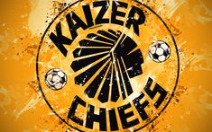 Download wallpapers Kaizer Chiefs FC, 4k, paint art, logo, creative, South African football team, South African Premier Division, emblem, orange background, grunge style, Johannesburg, South Africa, football Chiefs Wallpaper, Nike Wallpaper, Football Wallpaper, Colorful Wallpaper, Kaizer Chiefs, Chiefs Logo, Football Team, Soccer Teams, Kunst