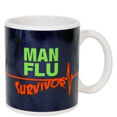 Man Flu Survivor Mug. iWOOT
