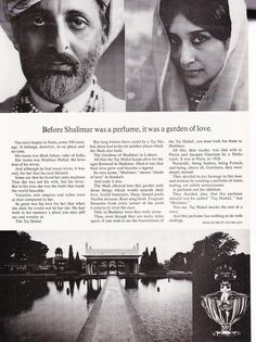 """SHALIMAR Perfume Bottle Ad, """"Garden of Love"""" [Shalimar Gardens].  Brian carved our initials in a tree at Shalimar Gardens.  I wore this scent most days until a bottle of it broke in my purse while at school."""