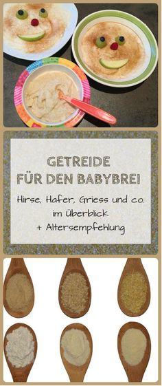 Welches Getreide eignet sich eigentlich für den Babybrei und was muss ich hinsichtlich Gluten bei der Beikost beachten? Ich stelle euch die gängigen Getreidesorten wie Hirse, Hafer, Weizen (Griess), Dinkel und co. vor und gebe auch Tipps, ab wieviel Monaten sie sich für das Baby eignen: https://www.breirezept.de/getreidekunde.php