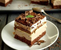 the kubanka cake Pastry Recipes, Cake Recipes, Dessert Recipes, Polish Desserts, Kolaci I Torte, Vegan Sweets, How Sweet Eats, Homemade Cakes, Dessert Bars
