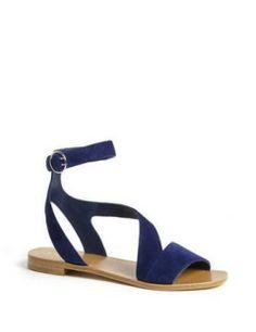 PRADA Asymmetrical Ankle Strap Sandal