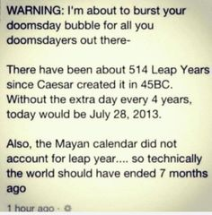 ahh doomsday relief