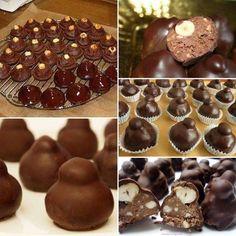 200 g di nocciole 300 g di nutella 150 g di cioccolato al latte 1 cucchiaio di cacao 300 g di cioccolato fondente