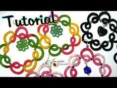 ▶ Tutorial orecchini chiacchierino con perline | How to tatting earrings - YouTube