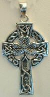 DIY Jewelry - Make a sterling silver Celtic cross necklace with a sterling silver Irish cross pendant. It has an Irish clover and a Celtic styled cross.