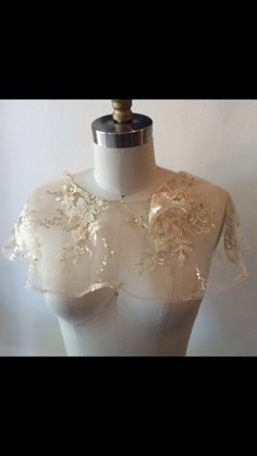 Gold Lace Capelet - One of a kind by thediamondseabridal on Etsy
