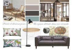 Planche d'ambiance pour un salon-véranda - A mood board for a conservatory-living-room