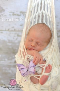 Ravelry: Stork Pouch Hanging Pod - Photography Prop pattern by Busy Mom Designs