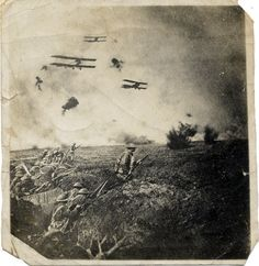 """""""This was an early attempt to co-ordinate infantry, artillery and air attacks. With no radios in aircraft, success depended on precise timing.""""  (HQ New Zealand Defence Force, Library)"""
