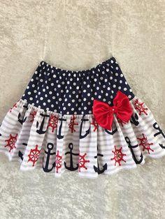 SALEAnchor skirt girls summer skirt Fourth of by RinahsBoutique