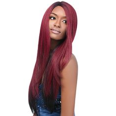 """Outre Synthetic Lace front Wig L Part Natural Yaki 24"""""""