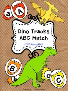 Dinosaur ABC Match {Printable File Folder Game} $1.50