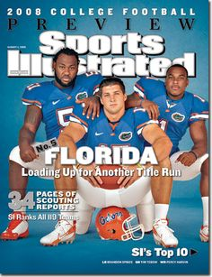 Brandon Spikes, Percy Harvin, Tim Tebow, Florida Gators