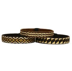 Third Time is the Charm - Cana Flecha Cuff Bracelets - Set of 3 - Dark Brown Tones - Colombia