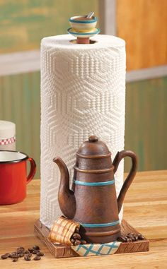 Coffee Themed Kitchen Paper Towel Holder Kitchen Decor in 2019 coffee themed kitchen decor - Kitchen Decoration