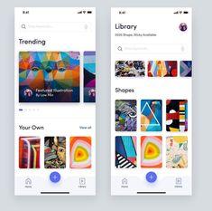 UI Design of the week 3 - Graphic - Design - UIUX - UI Design - web Design - ux - ui - ui ux designer- Inspirations - Graphicroozane Ui Design Mobile, Mobile Application Design, Neon Design, App Ui Design, User Interface Design, Flat Design, Design Design, Layout Design, Design Thinking