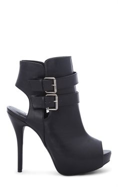 Open Toe High Heel Bootie with Covered Platform and Open Back