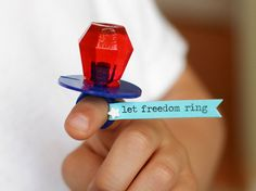 Patriotic ring pop.