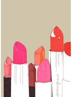 Painting of lipstick. Whitney's room