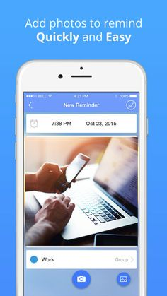 """Reminders: photo to-do list & task notification on App Store:   Functions: - iOS 10 notifications with attached image - iCloud synchronization - notifications with """"remind me at location"""" - add images f...  Developer: uladzislau yasnitski  Download at http://ift.tt/2mXiylk"""