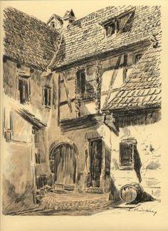 Turckheim - Alphonse Klebaur Cour du vieil hôpital