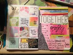 Art Journal Pages Get Messy March