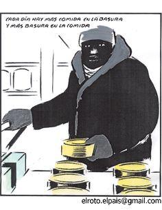El Roto Humor Grafico, Political Cartoons, Comic Strips, Romper, Superhero, Historia Universal, Fictional Characters, Consciousness, Marketing