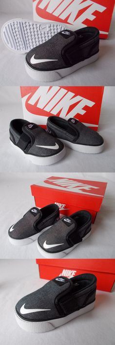 90e9e204eedba7 Baby Shoes 147285  Nib Nike Toki Slip On Toddler Shoe Canvas (Tdv) Black  White Chill 719741 Boys 5C -  BUY IT NOW ONLY   34.97 on eBay!
