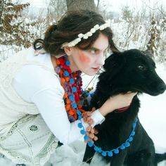 "Polubienia: 1, komentarze: 1 – Krystyna Feicht (@knitting_by_antonia) na Instagramie: ""#knitting #crocheted #handmade #handcraft #halskette #neclless #wolle #woll"""
