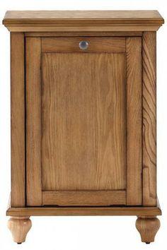 A tilt-out hamper that's a definite style statement piece for the bathroom. HomeDecorators.com