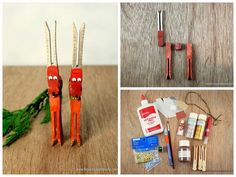 Clothespin Reindeer    Adorable DIY Ornaments You Can Make With The Kids