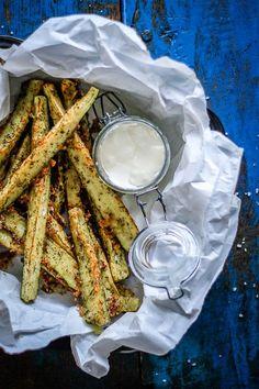 zucchini parmesan sticks - easy, healthy sidedish