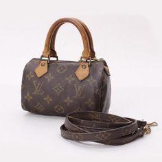 Louis Vuitton Mini Speedy Monogram Cross body bags Brown Canvas M41534