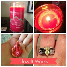 Do you WANT a Diamond Candle? Who doesn't like candles, surprises and rings? You get all 3 with diamond candles! Diamond Candles, Little Presents, Candle Rings, Smell Good, Soy Candles, Just In Case, Projects To Try, Great Gifts, Diy Crafts