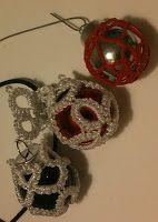 tatted Christmas balls