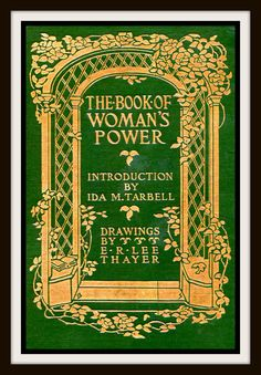"""Vintage Book Cover """"The Book of Woman's Power"""" published 1911 by Macmillan publishers, New York"""