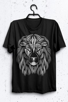 LAVI  Line Art Hand Illustration Lion Screen by UrbanWisdomStudio