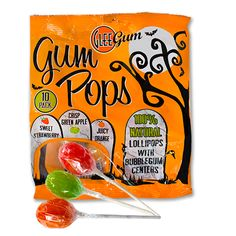 Halloween Gum Pops. These are really good! I found them at Whole Foods. You can also order them online.