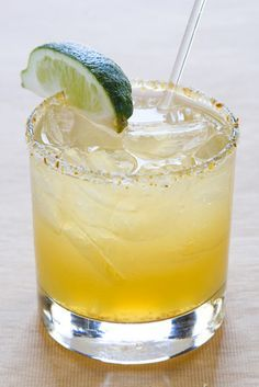 Ginger margarita.  I am drooling over this one!  Replace tequila with rum and it's still tasty, too...