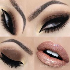 Who like a Brown Smokey Eye? It goes with everything!  I DO love it!  TUTORIAL  link in my Bio  Eyeshadow palette My Beauty Weapon by ✨@motivescosmetics✨ Gel Eyeliner and eyebrows by ✨@sigmabeauty✨ Eyelashes by ✨@velourlashesofficial✨  Lipstick Melted Nude by ✨@toofaced✨ Glitter Crystal ang Gloss Kiss Me by ✨@motivescosmetics✨ Contact lenses by ✨@desioeyes✨  #makeupartist #mua #beautyguru #beautyblogger #motivescosmetics #toofaced #sigmabeauty  #velourLashes