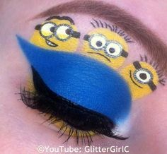 Ideas birthday makeup quotes make up for 2019 Cool Makeup Looks, Cute Makeup, Minion Party, Minion Birthday, Minion Makeup, Make Up Art, How To Make, Minion Face, Disney Makeup