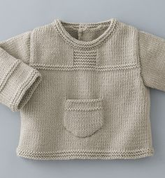 New knitting baby pullover beautiful Ideas Baby Knitting Patterns, Baby Sweater Knitting Pattern, Baby Boy Knitting, Knit Baby Sweaters, Knitted Baby Clothes, Knitting For Kids, Baby Patterns, Baby Knits, Crochet Baby