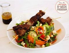 The warmth of the meat and the crunch of the salad! YUM!