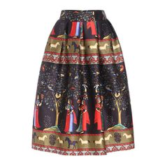 SheIn(sheinside) Multicolor High Waist Tribal Print Skirt ($24) ❤ liked on Polyvore featuring skirts, multi, long colorful skirts, black high waisted skirt, long flared skirts, tribal maxi skirt and high waisted maxi skirt